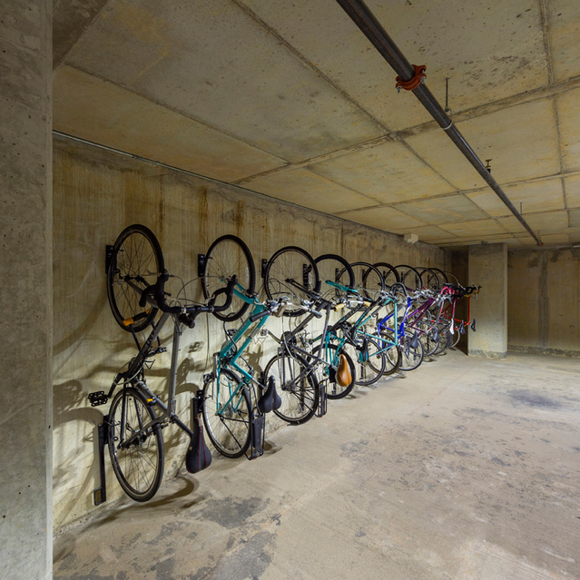 Bike Storage at Block 334 Apartments in Houston, TX.