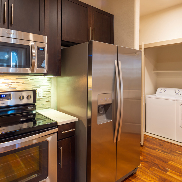 Appliances and laundry at Block 334 Apartments in Houston, TX.